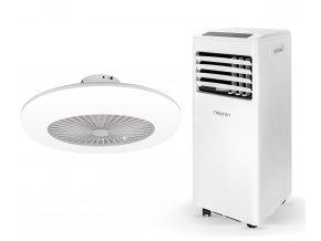 Zvýhodněná sada mobilní klimatizace a stropního ventilátoru (Noaton AC 5108 + Noaton 11055W Callisto)