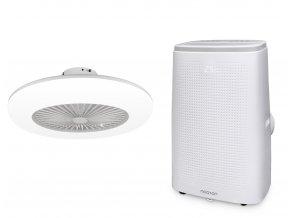 Zvýhodněná sada mobilní klimatizace a stropního ventilátoru (Noaton AC 5112 + 11055W Callisto)