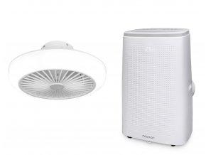 Zvýhodněná sada mobilní klimatizace a stropního ventilátoru (Noaton AC 5112 + 11045W Polaris)