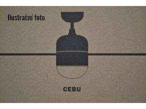 FARO 33609 CEBU, stříbrný/černý, stropní ventilátor se světlem, zánovní (doba použití 1 týden), záruka 2 roky