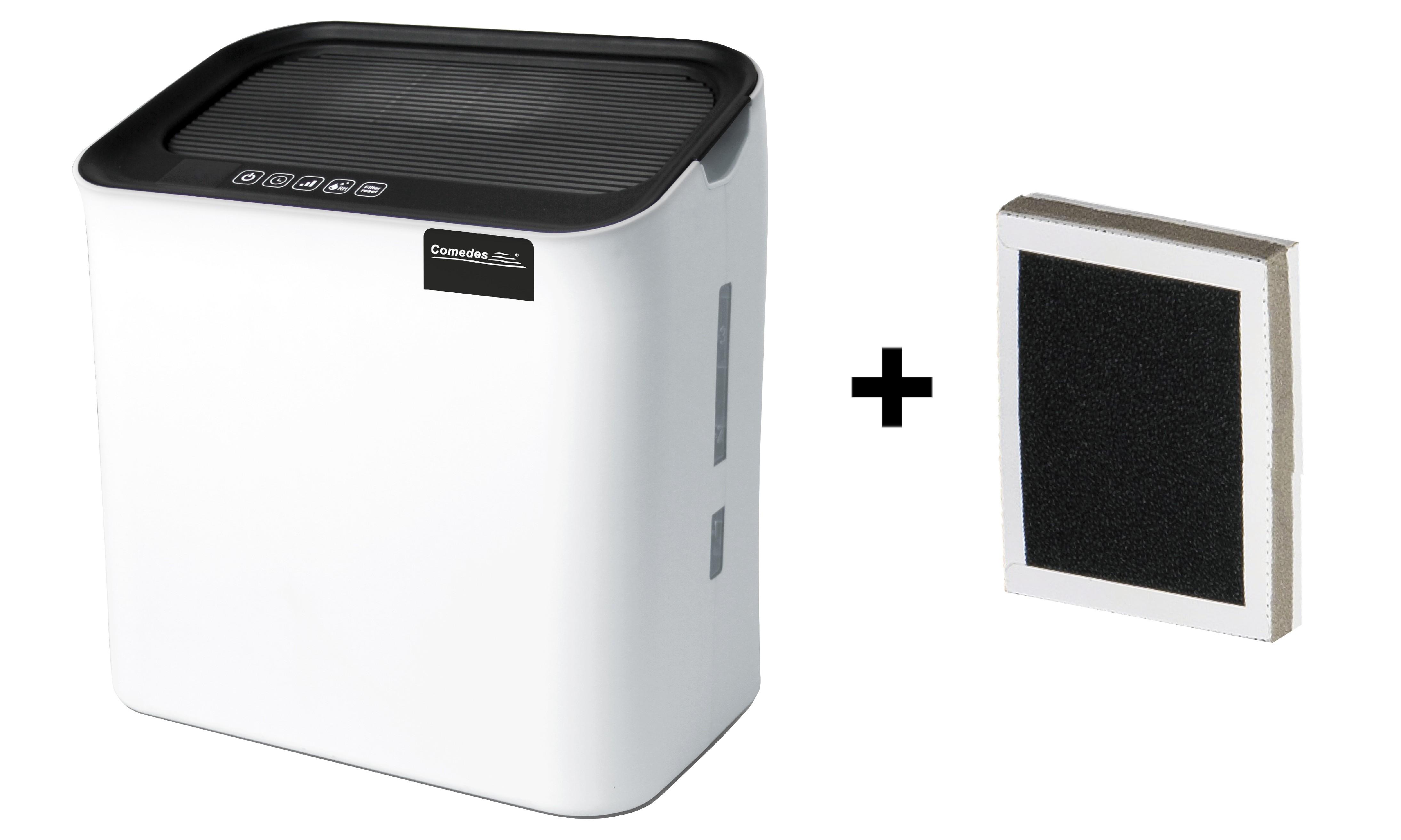 Zvlhčovač vzduchu s HEPA filtrem Comedes Hildegard LW 360 + náhradní filtr Čistička vzduchu a zvlhčovač 2v1