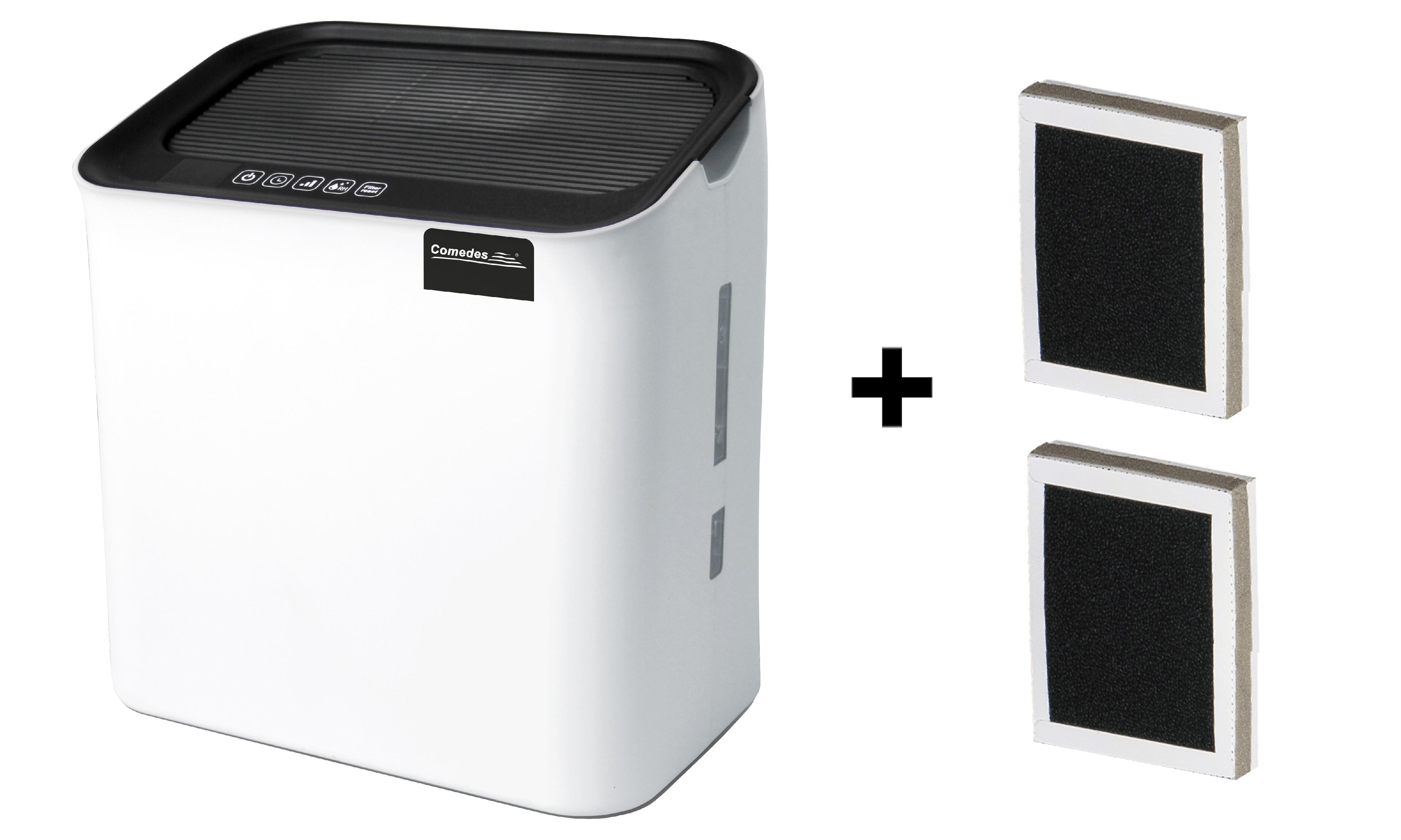 Zvlhčovač vzduchu s HEPA filtrem Comedes Hildegard LW 360 + 2x náhradní filtr Čistička vzduchu a zvlhčovač 2v1