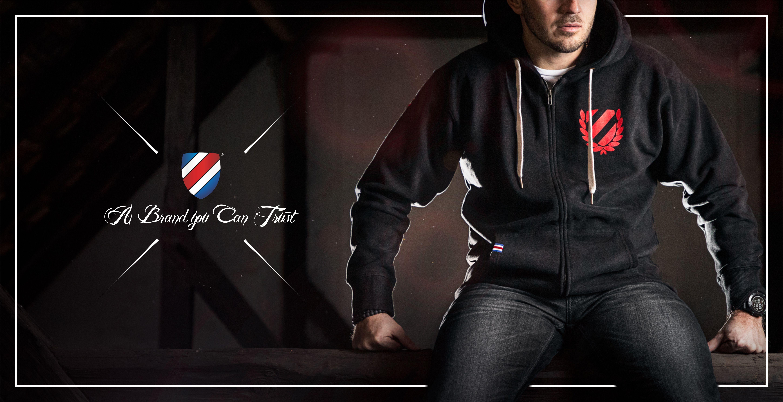Street zipper hoodie mikina - banner