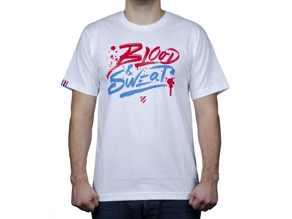 Blood and sweat triko front