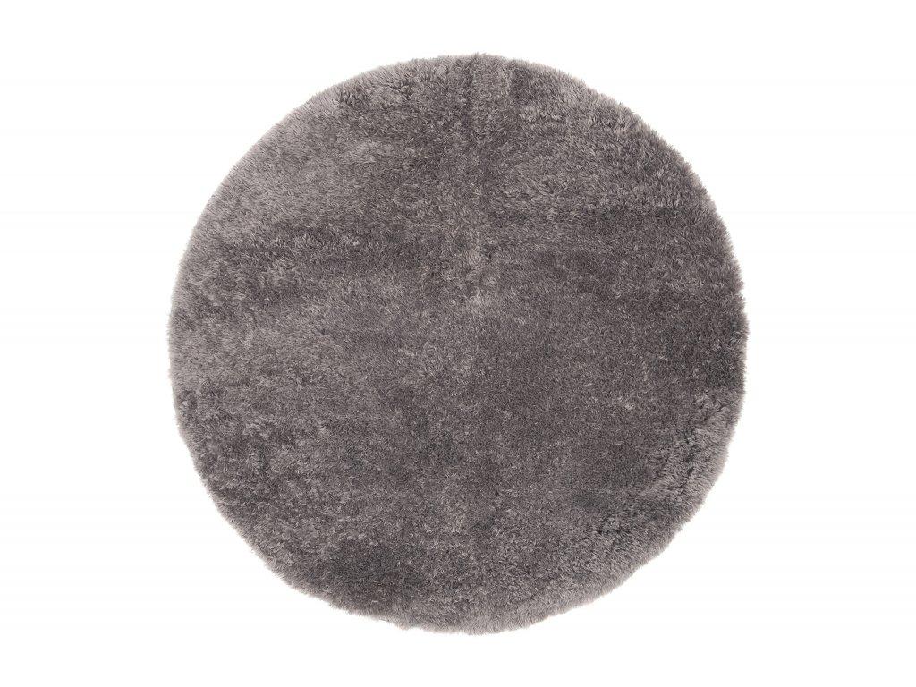 kulaty plysovy koberec best tmave sedy 1