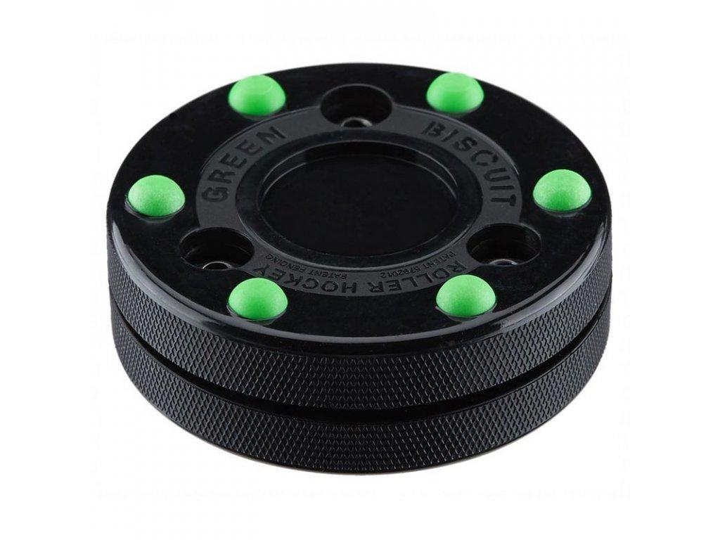 Inline Puk Green Biscuit Roller Hockey