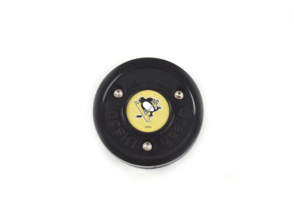 Puk Green Biscuit NHL Pittsburg Penguins Black