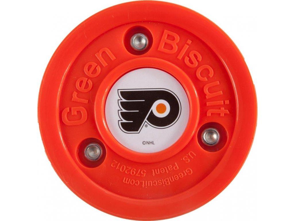 Puk Green Biscuit NHL Philadelphia Flyers