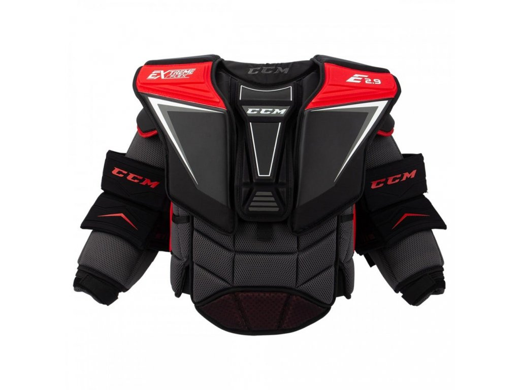 ccm goalie chest protector extreme flex shield e 2 9 sr