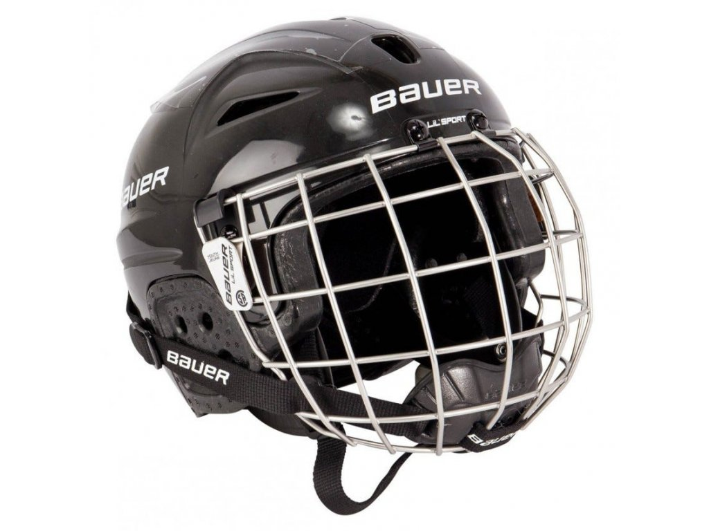 bauer hockey helmet lil sport youth combo1
