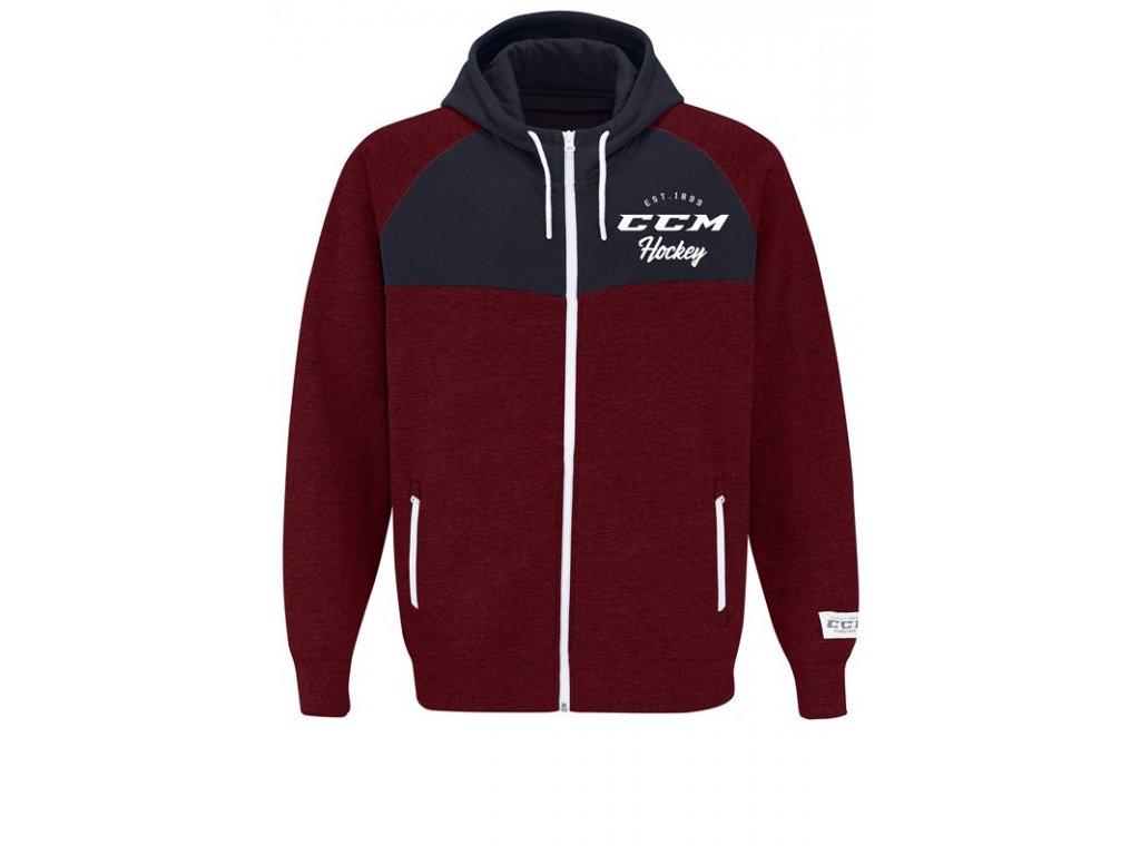 Mikina CCM Academy Full Zip Hood