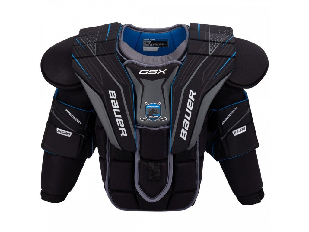 bauer goalie chest protector gsx yth