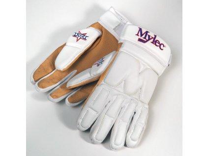Hokejbalové rukavice Mylec Elite Street White