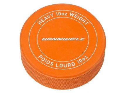 Hokejový puk Winnwell oranžový těžký s logem