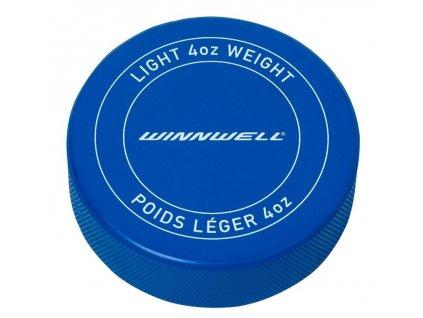 Hokejový puk Winnwell modrý JR odlehčený s logem