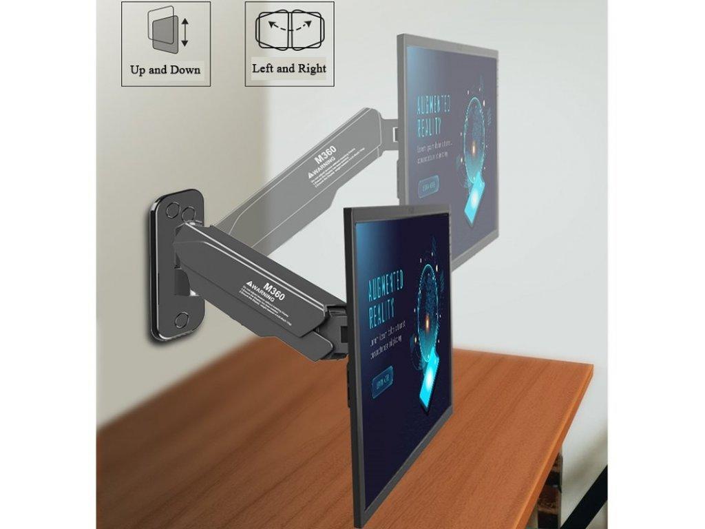 STRICT BRAND M360 držák TV monitoru 12kg + rozšíření VESA 200x200  zesílený PROFI držák + + zdarma kvalitní instalační materiál