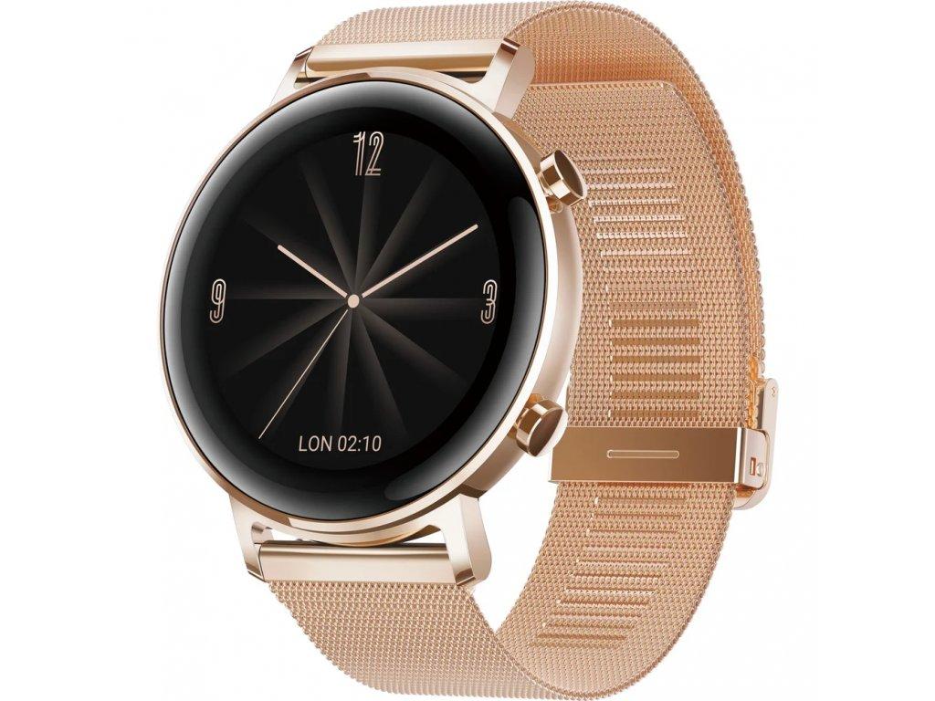 Chytré hodinky Huawei Watch GT 2 (42 mm) zlaté (55024610)  (CZ Distribuce)