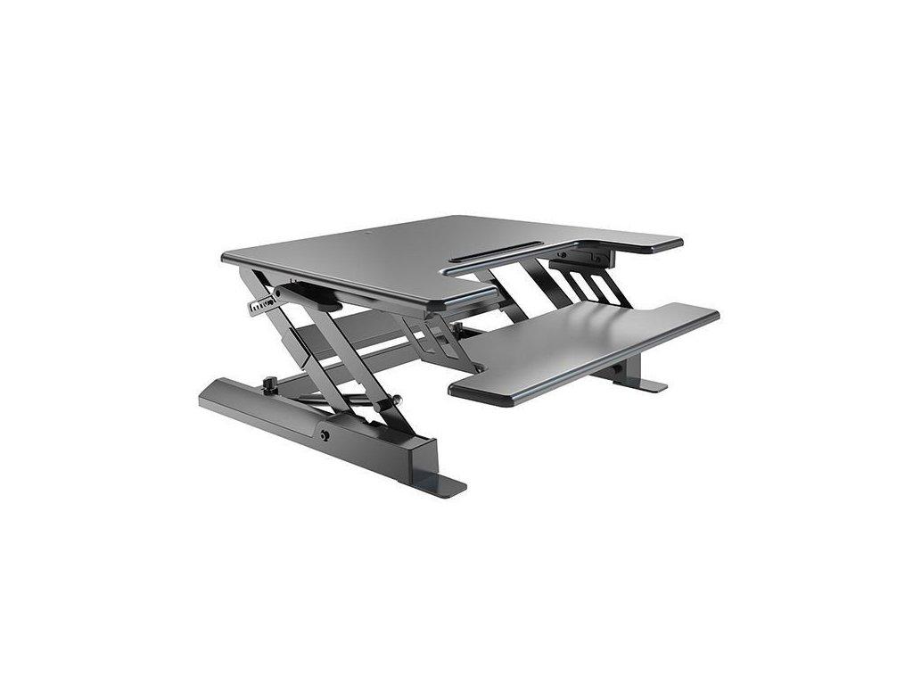 Výškově stavitelný PC stůl STRICT BRAND SB-LD02S