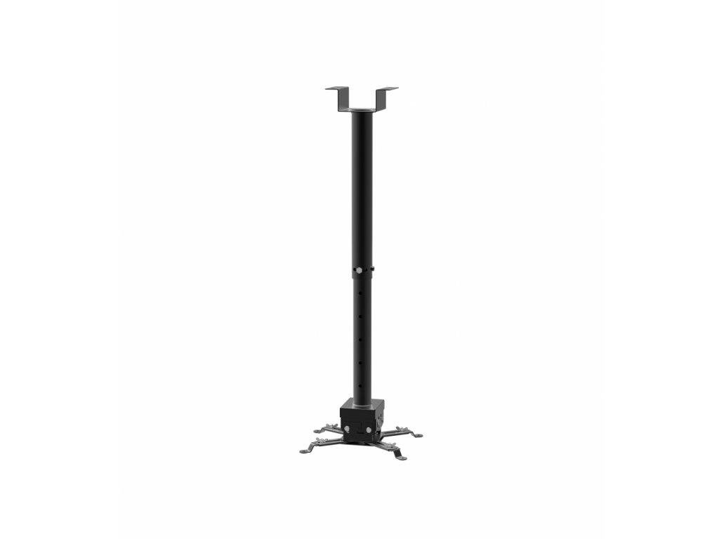 SB2 stropní držák projektoru s nastavitelnou délkou od stropu 650-1000mm v černé barvě