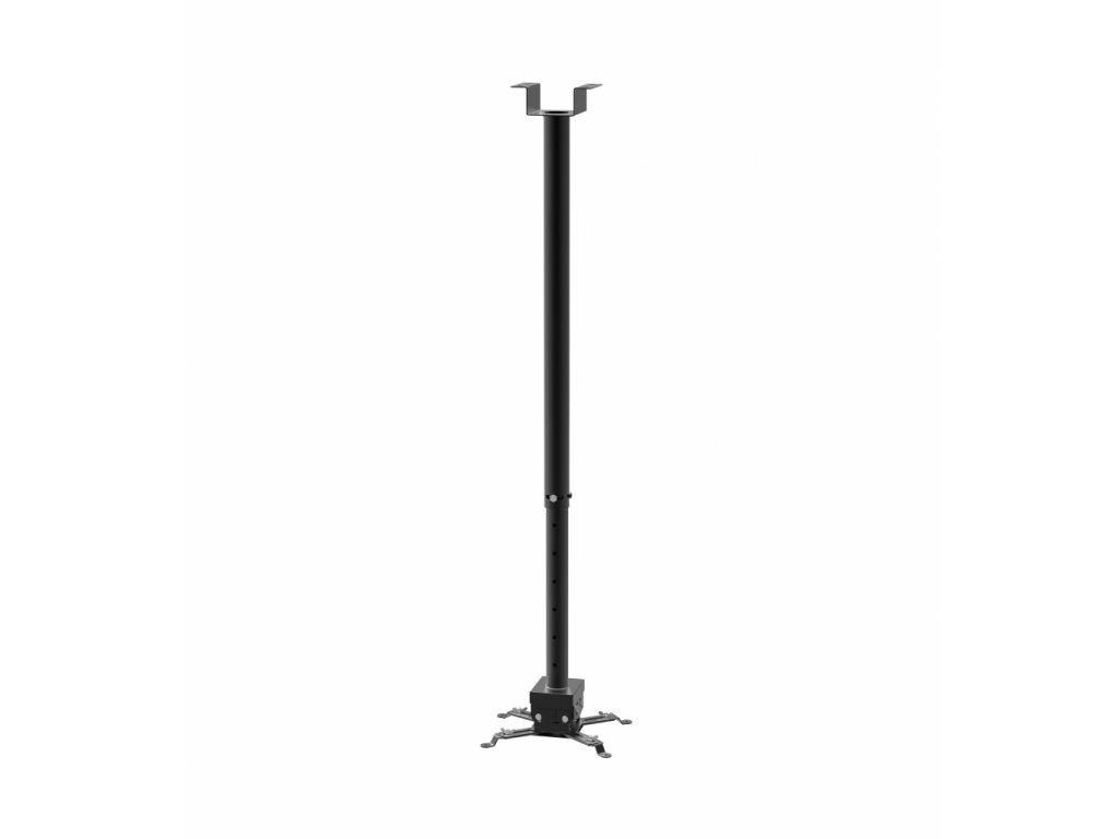 SB2M stropní držák na projektory s nastavitelnou délkou od stropu 860-1470mm v černé barvě