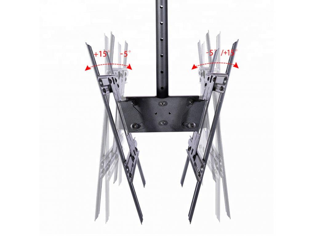Stropní držák na 2 TV STRICT BRAND T270-15  zesílený PROFI držák + + zdarma kvalitní instalační materiál