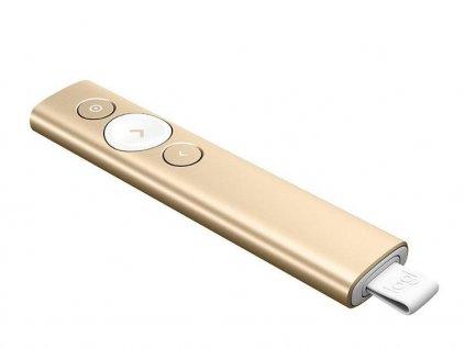 logitech prezenter spotlight 3d akcelerometr a gyroskop zlaty 87022216
