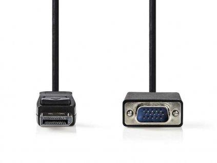 nedis ccgb37300bk20 kabel displayport samec vga samec 2 m 101461041
