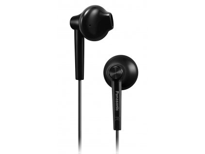 Panasonic BASS Boost Wired Earphone with in Line Mic and Remote RP TCM55E K Black B