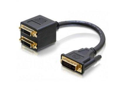 delock adapter dvi i dual link samec na dvi i dual link a vga samice kopie