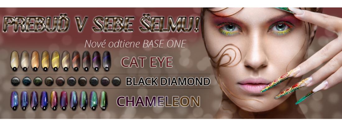 Base one Chameleon, Cat Eye, Black Diamond
