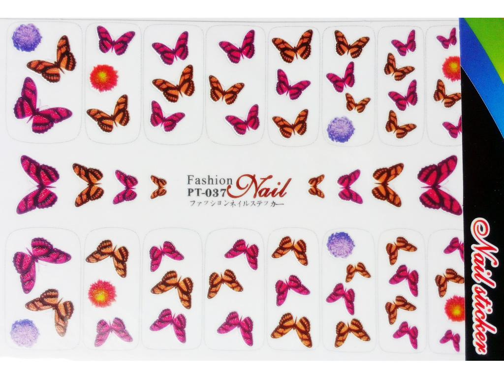 Nálepky na nechty veľké - motýle