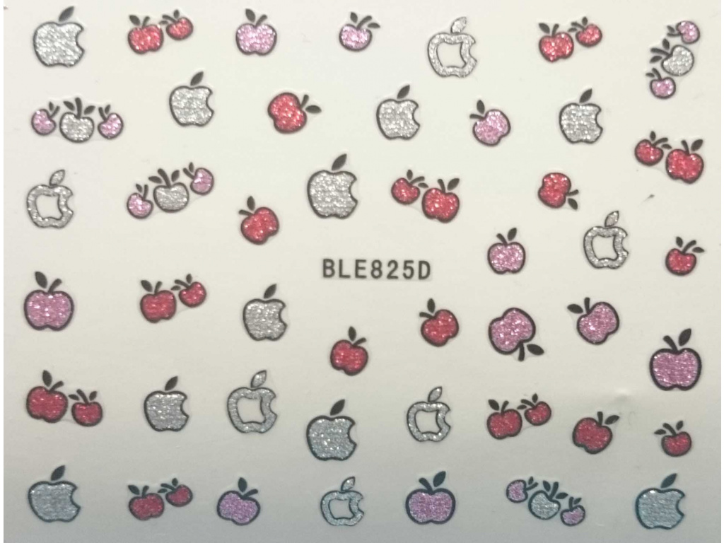 Nálepky na nechty trblietavé jablka