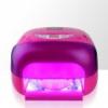 UV Lampa s LCD displejom a sušičkou 36W ružová