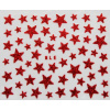 Nálepky na nechty - trblietavé hviezdy červené