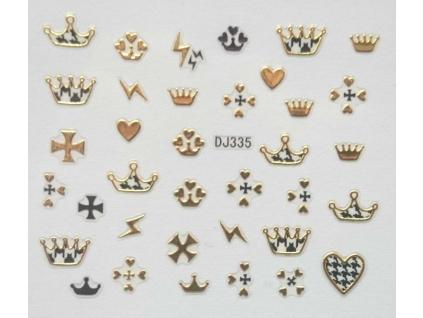 Nálepky na nechty - zlaté