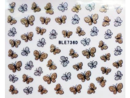 Nálepky na nechty trblietavé motýle