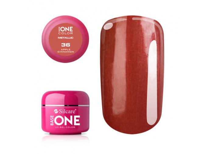 Metalický UV gél Base One 5g / 36 Apple Cinnamon