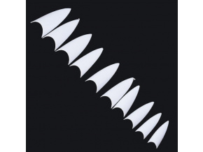 Stiletto tipy v sáčku - biele 100ks