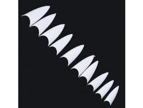 Stiletto tipy v sáčku - biele 150ks
