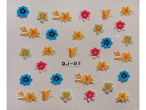 Nálepky na nechty - kvety
