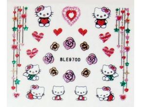 Nálepky na nechty trblietavé Hello Kitty
