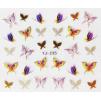 Nálepky na nechty zlato-farebné motýle