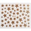 Nálepky na nechty - trblietavé hviezdy zlaté