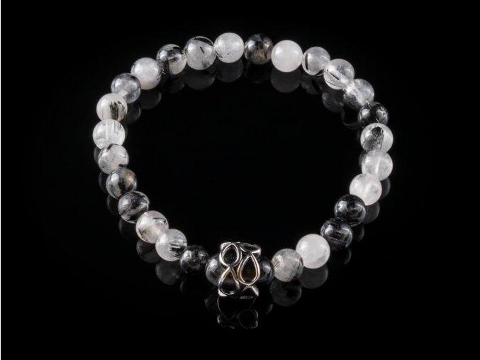 naramek z kristalu s turmalinem a chirurgicke oceli gemterra