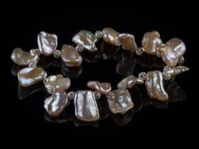 naramek z ricnich perel a stribra 3 gemterra