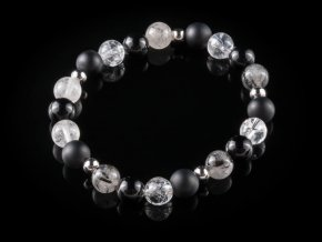 naramek z kristalu onyxu kristalu s turmalinem a chirurgicke oceli gemterra