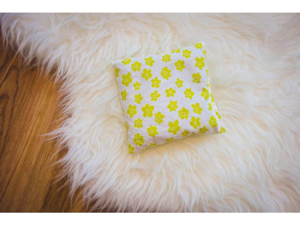 pohankový polštářek - zelené květy