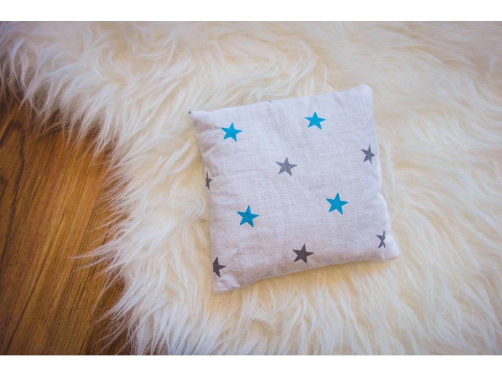pohankový polštářek - hvězdičky