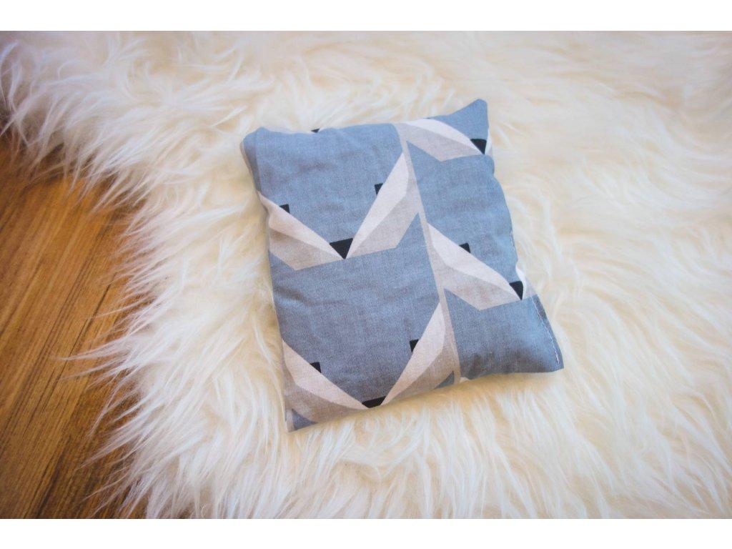 pohankový polštářek - modré lišky