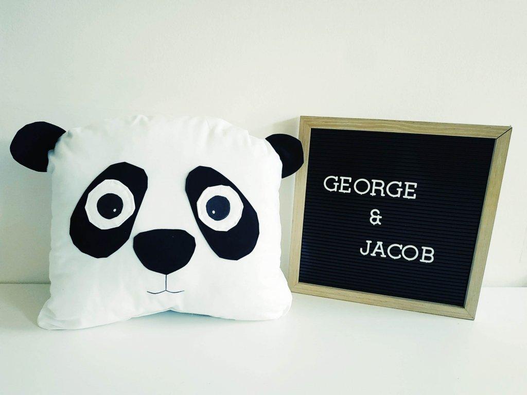 polštář panda george & jacob